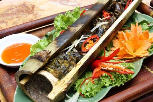 Lươn nướng ống tre